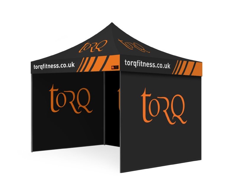 Custom Printed Gazebo Complete Package - Torq Fitness