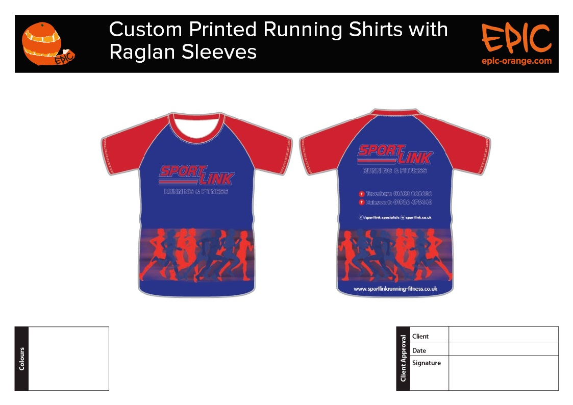 Custom Running Shirts with Raglan Sleeves