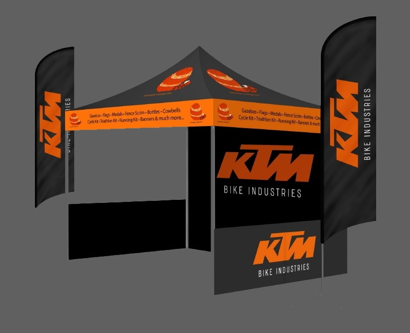 Custom Printed Gazebo Sports Package - Epic-KTM