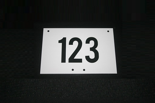 Rider Number Boards - Encapsulated