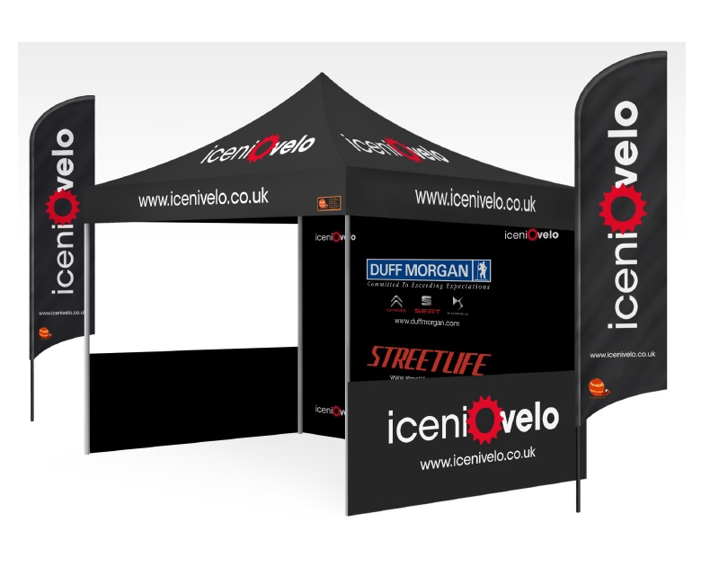 Custom Printed Gazebo Sports Package - Iceni Velo