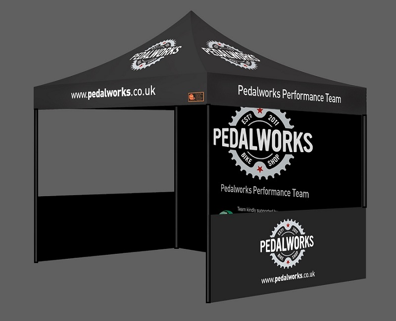 Custom Printed Gazebo Sports Package - Pedalworks