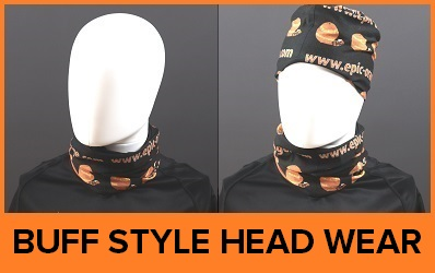 Custom Printed Buff Style Head Wear - Printed Snoods