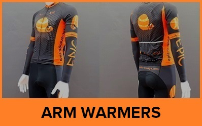 Custom Printed Cycling Arm Warmers - Roubaix Thermal Arm Warmers