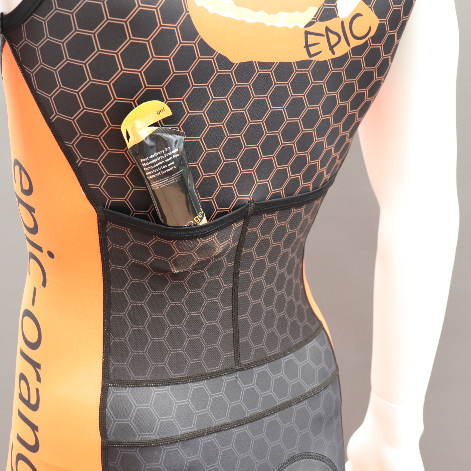 Endurance Tri Suits Front Zip with Rear Mesh pockets