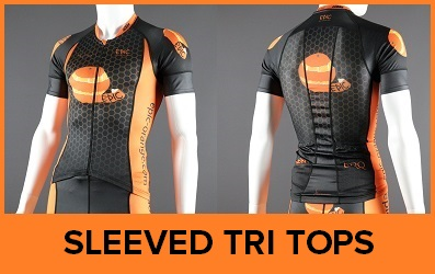 Custom Short Sleeved Triathlon Tops Endurance