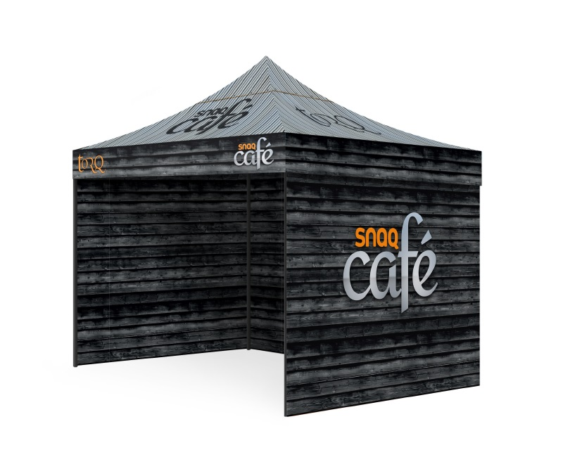 Custom Printed Gazebo Complete Package - Torq Snaq Cafe