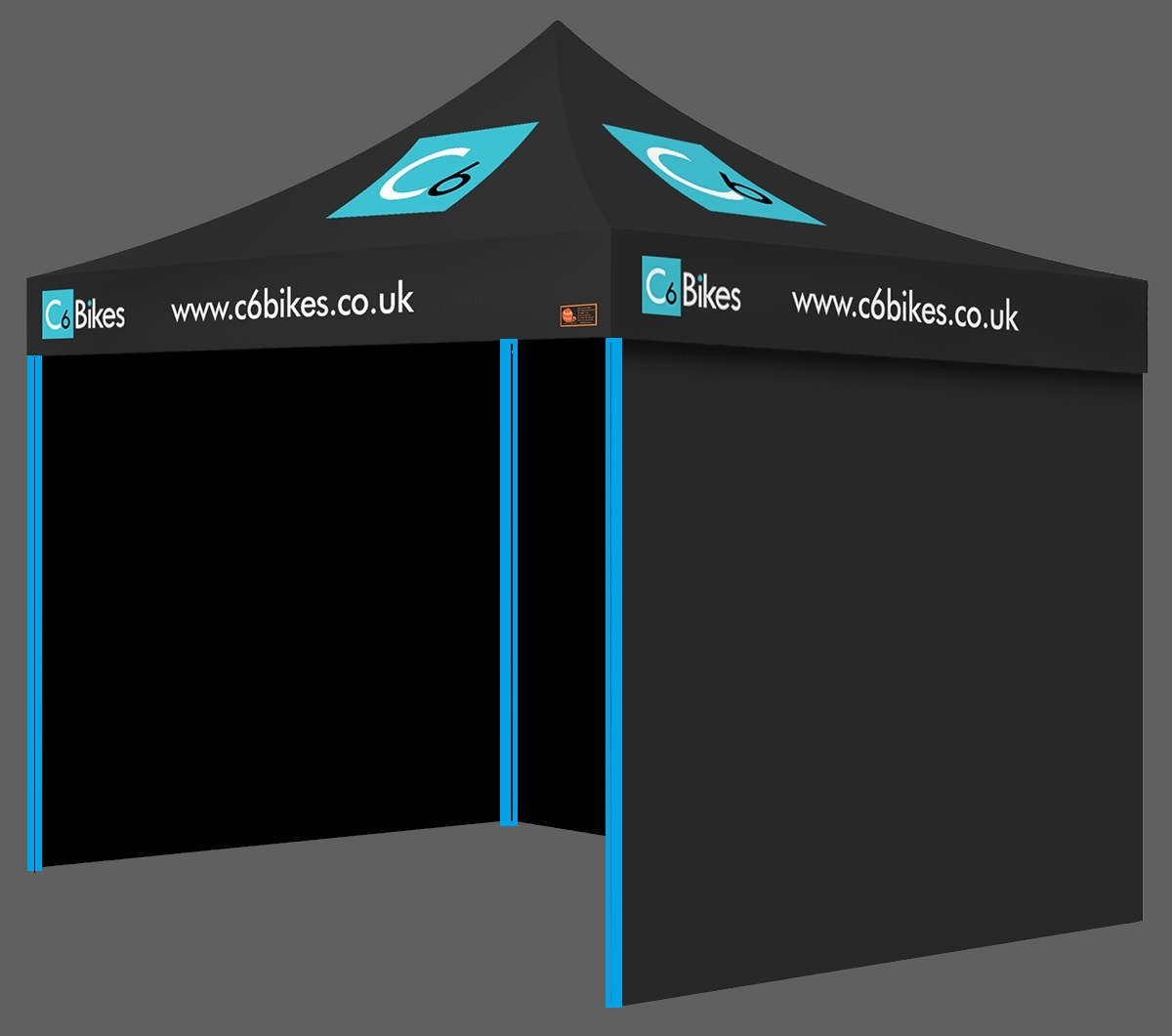 Intermediate Package Custom Printed Gazebo - C6 Bikes