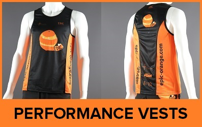 Custom Printed Performance Running Vests