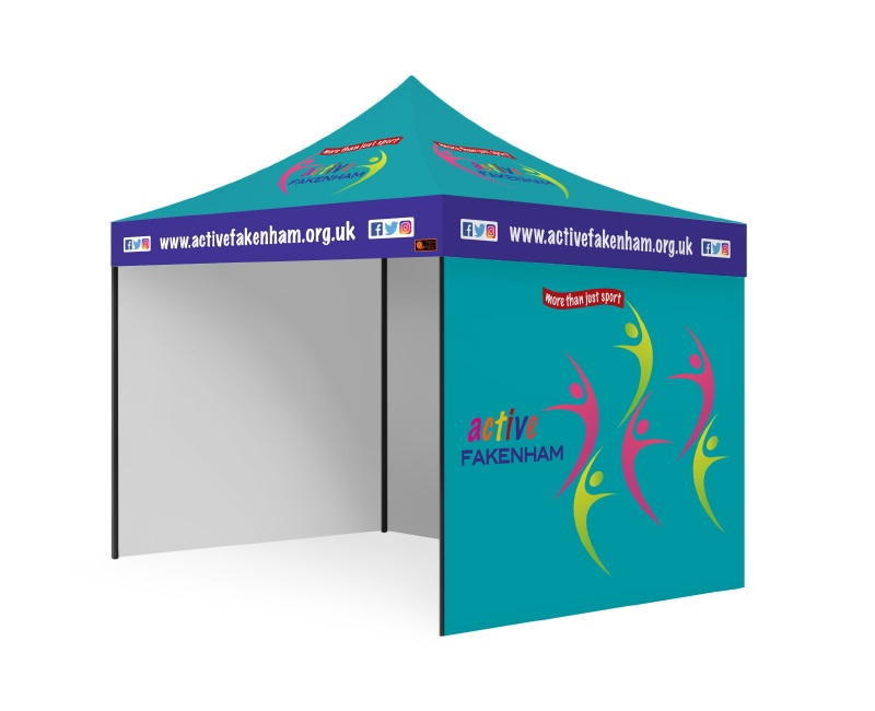 Custom Printed Gazebo Complete Package - Active Fakenham