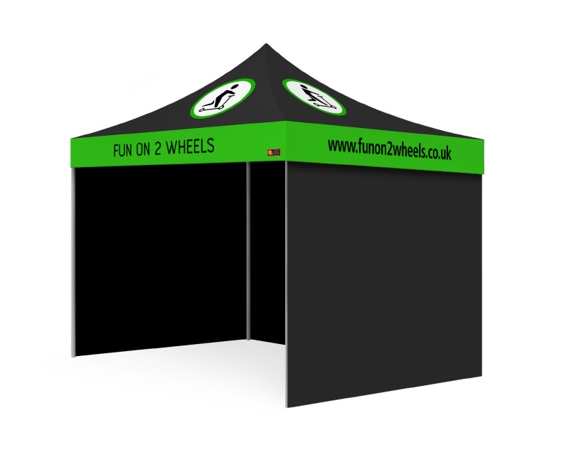 Custom Printed Gazebo Intermediate Package - Fun on 2 Wheels