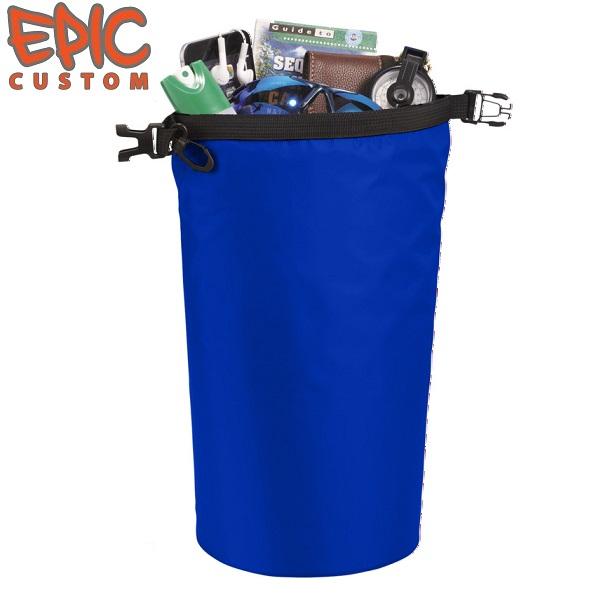 Printed Dry Bags 10 litre Capacity BLUE