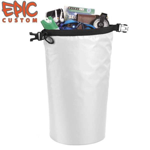 Printed Dry Bags 10 litre Capacity WHITE
