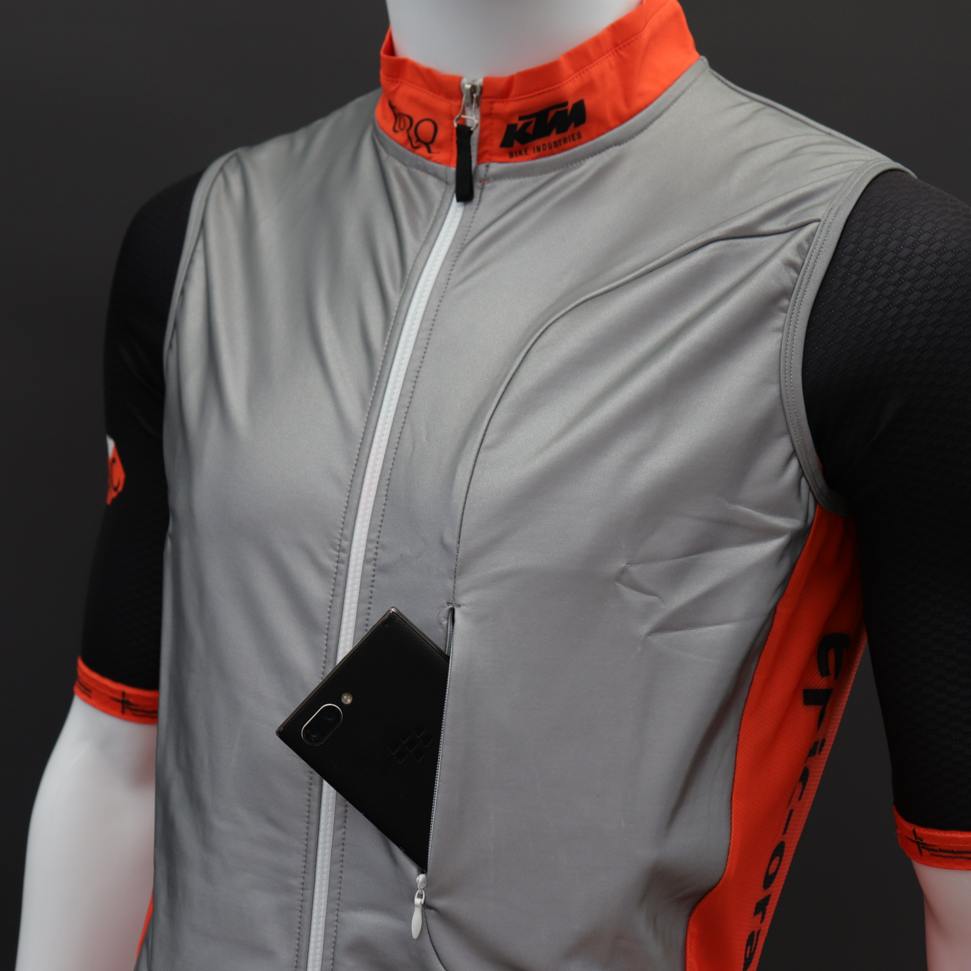 Reflective Cycle Gilets Zipped Chest Pocket