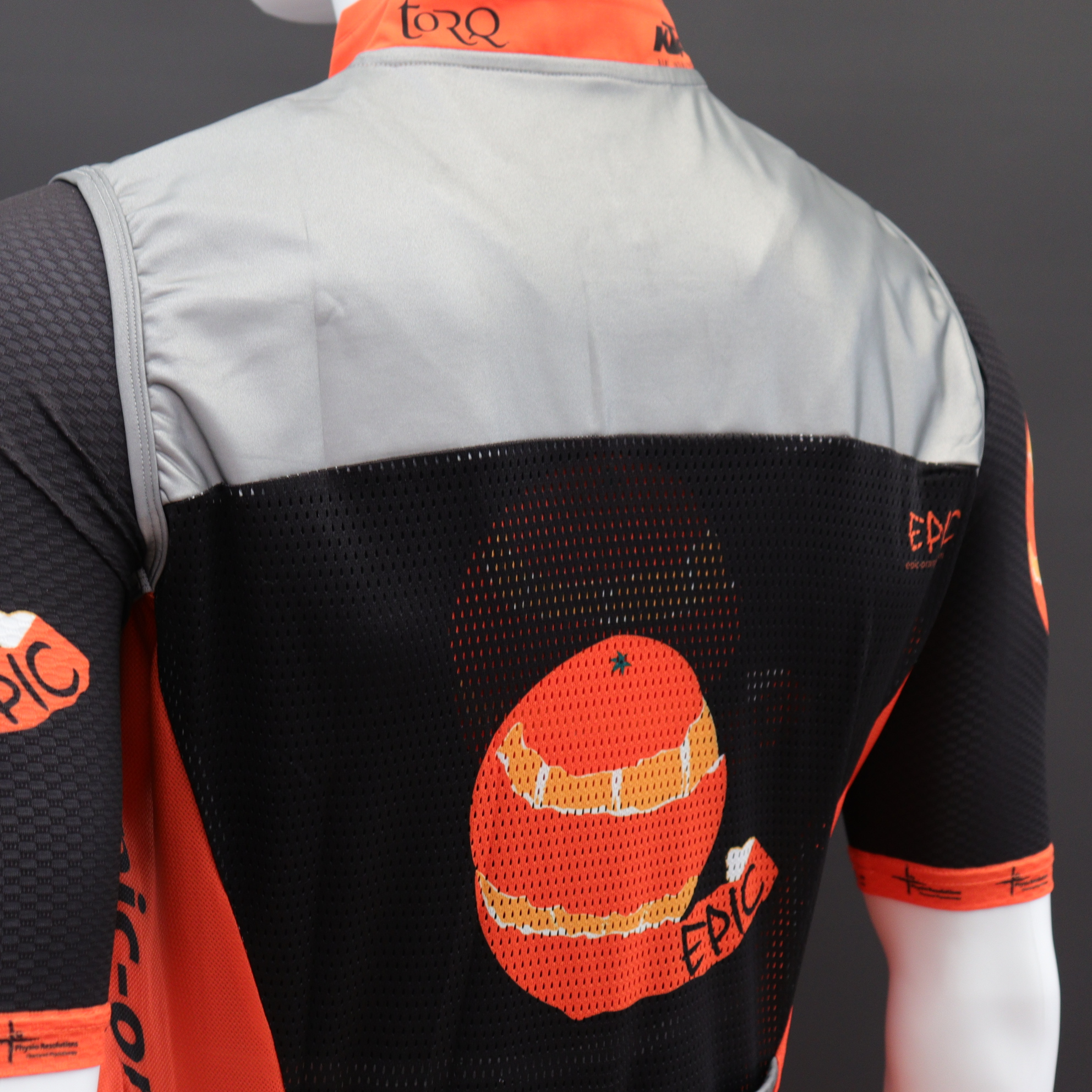 Reflective Cycle Gilets Printed Vent Back