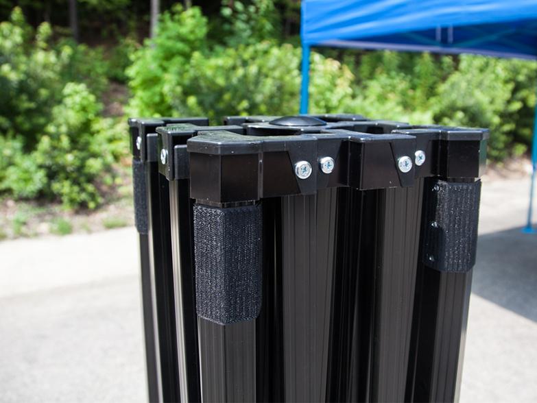 Pro 50 Gazebo Frame Anodised Black