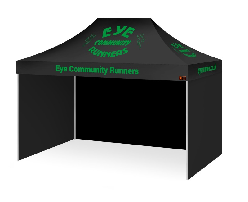Intermediate Package Custom Printed Gazebo - Eye Community Runners