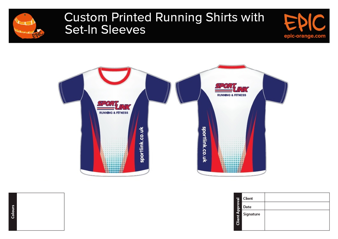 Custom Running Shirts with Set In Sleeves