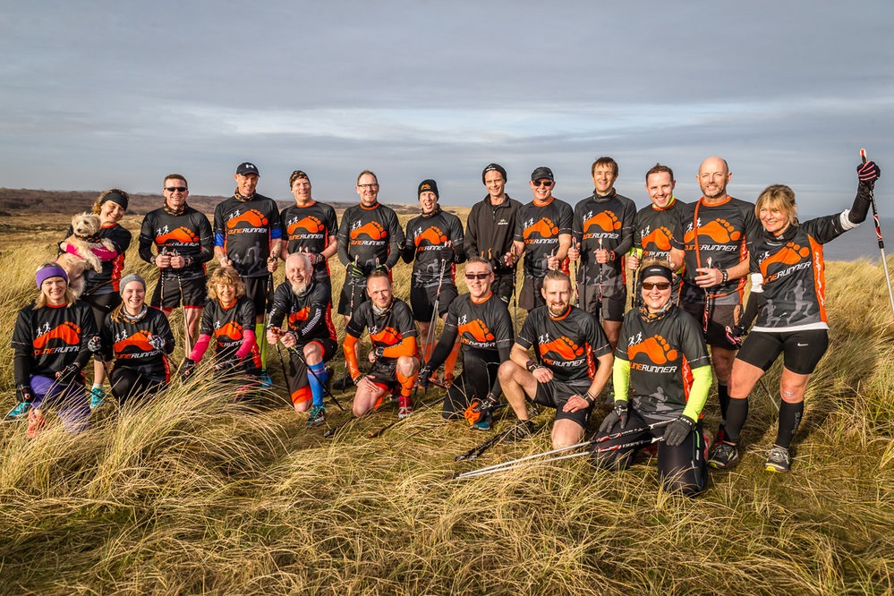 Team Dunerunner in their Custom Printed Running Shirts - credit Mark Hewlett Photography
