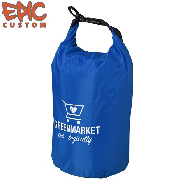 Custom Printed Dry Bags 10 litre BLUE