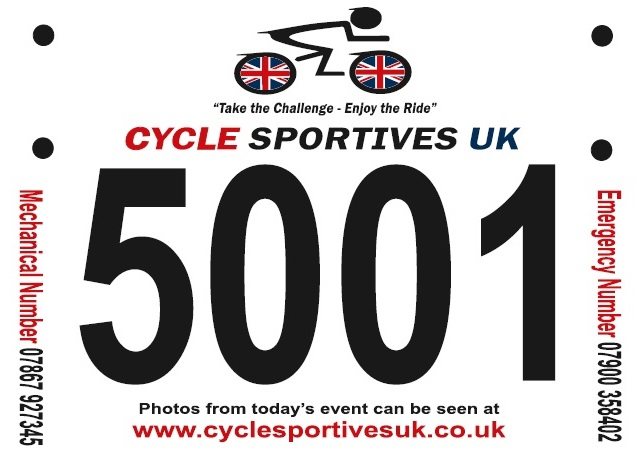 Road Rider Sportive Number Boards