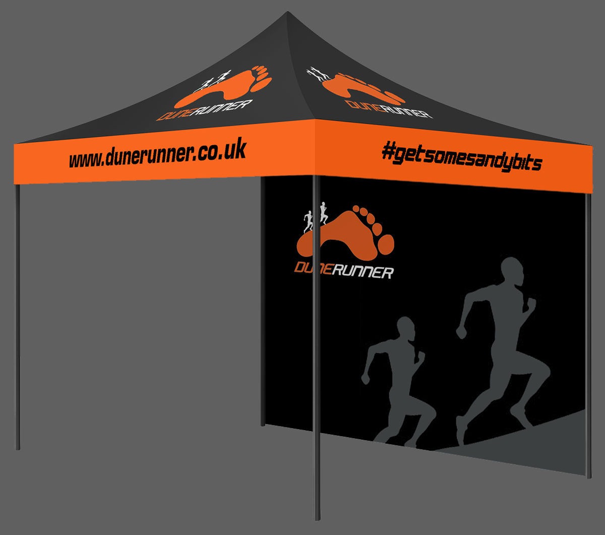 Custom Printed Gazebo Impact Package Dune Runner