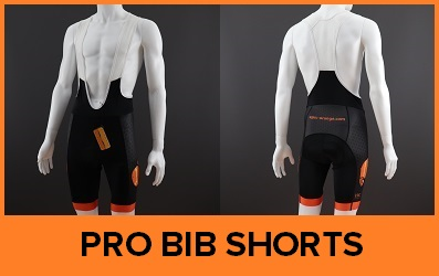 Custom Printed Pro Cycle Bib Shorts