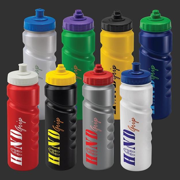 Custom 750ml Finger Grip Sports Bottles range
