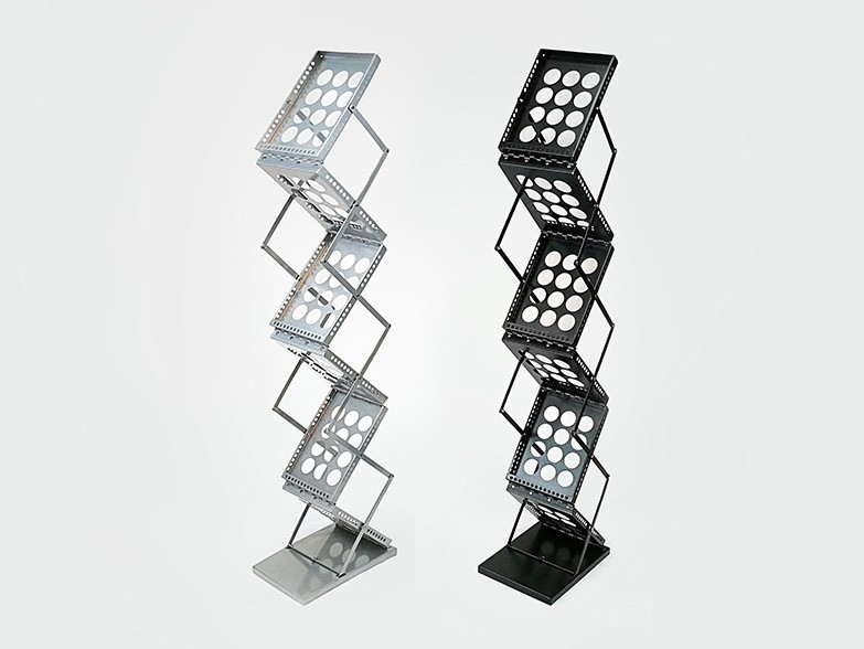 A4 Folding Brochure Stands, available in a high quality Silver or Black finish