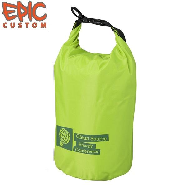 Custom Printed Dry Bags 10 litre GREEN