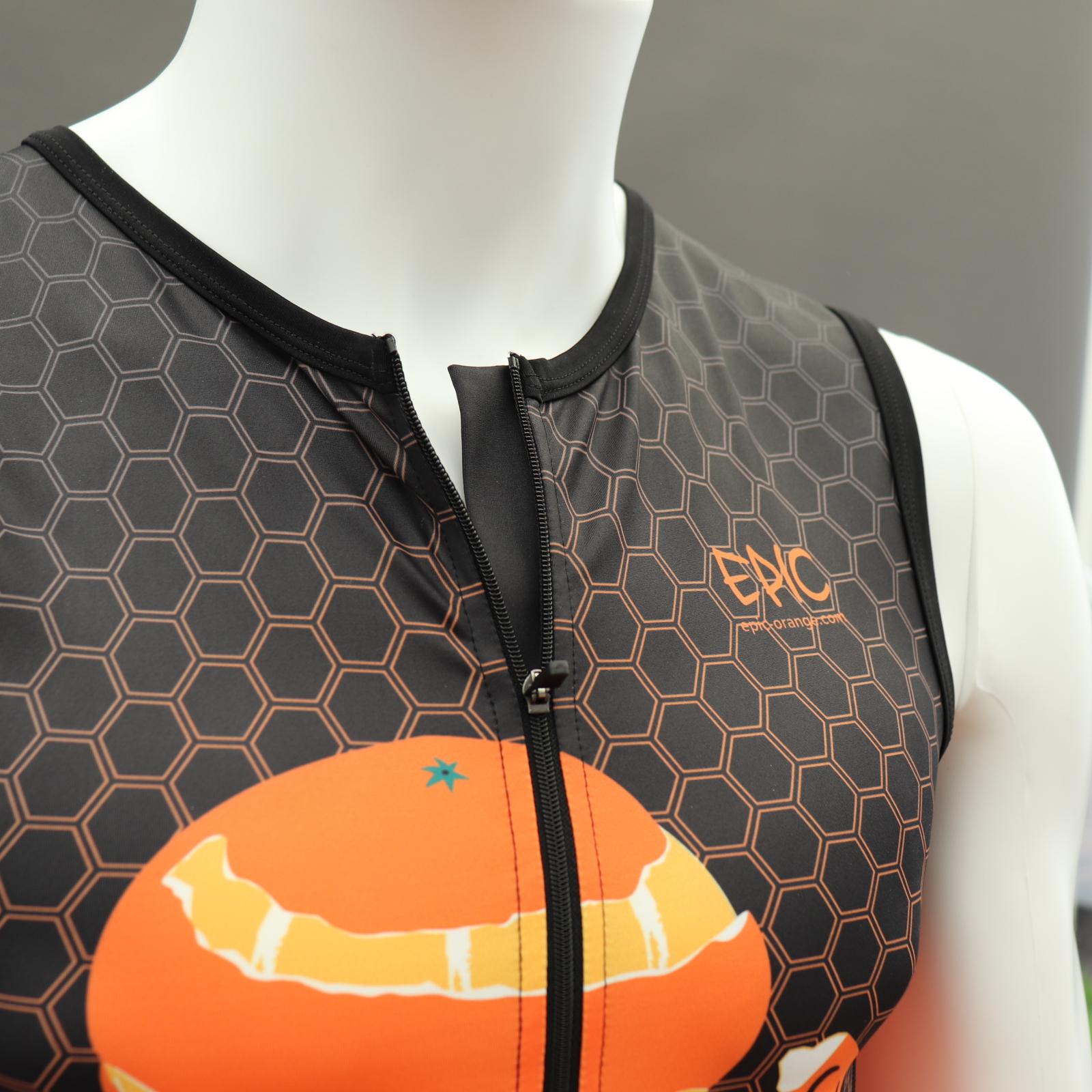 Endurance Tri Suit - Front Zip with comfort zip flap.
