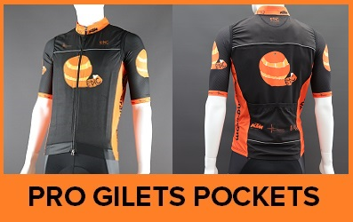 Custom Printed Pro Cut Gilets with Pockets