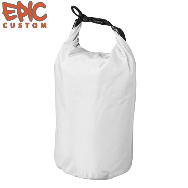 Printed Waterproof Dry Bags 10 litre WHITE