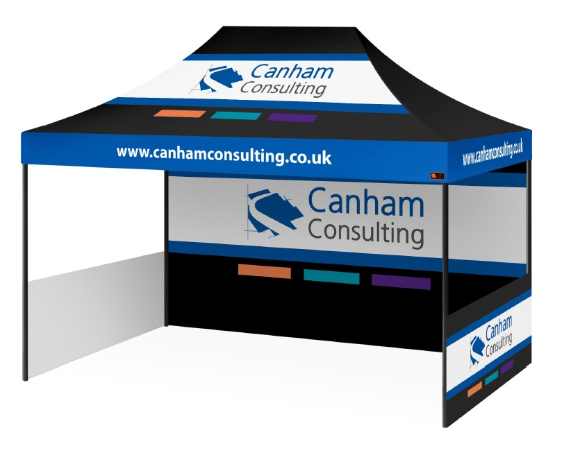 Custom Printed Gazebo Sports Package - Canham