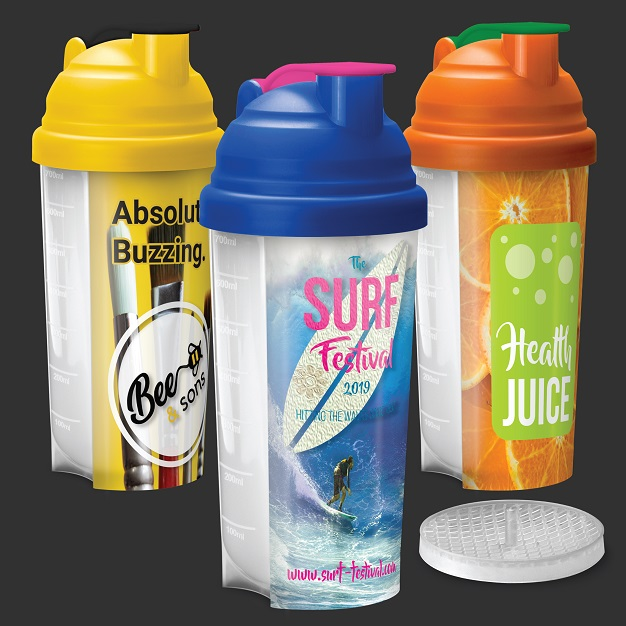 Protein Shaker Bottles Full Colour Printing
