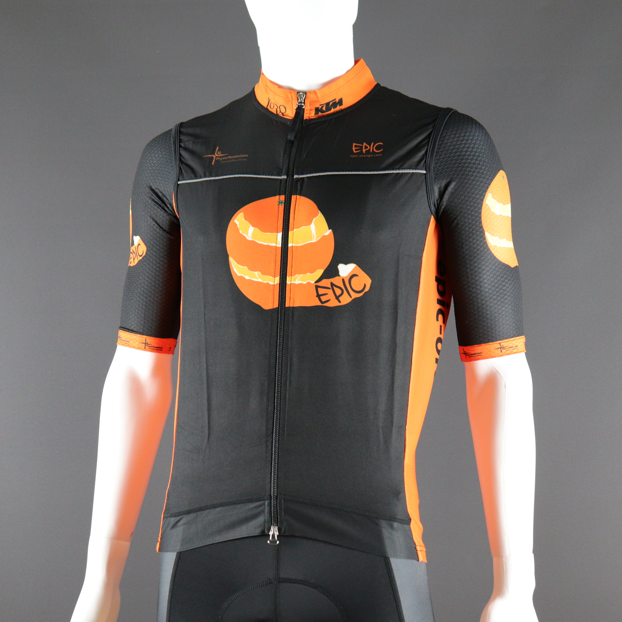 Custom Printed Pro Cycle Gilets Vented Back