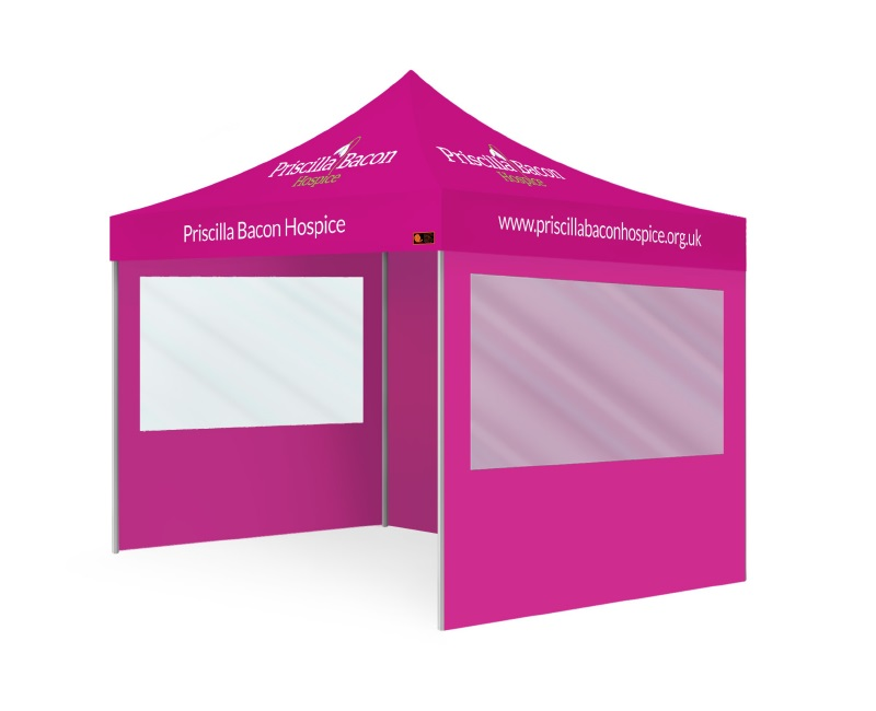 Custom Printed Gazebo Intermediate Package - Priscilla Bacon Hospice