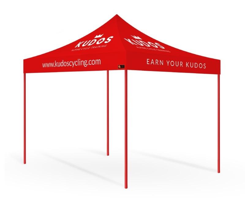 Basic Package Custom Printed Gazebo - Kudos Cycling