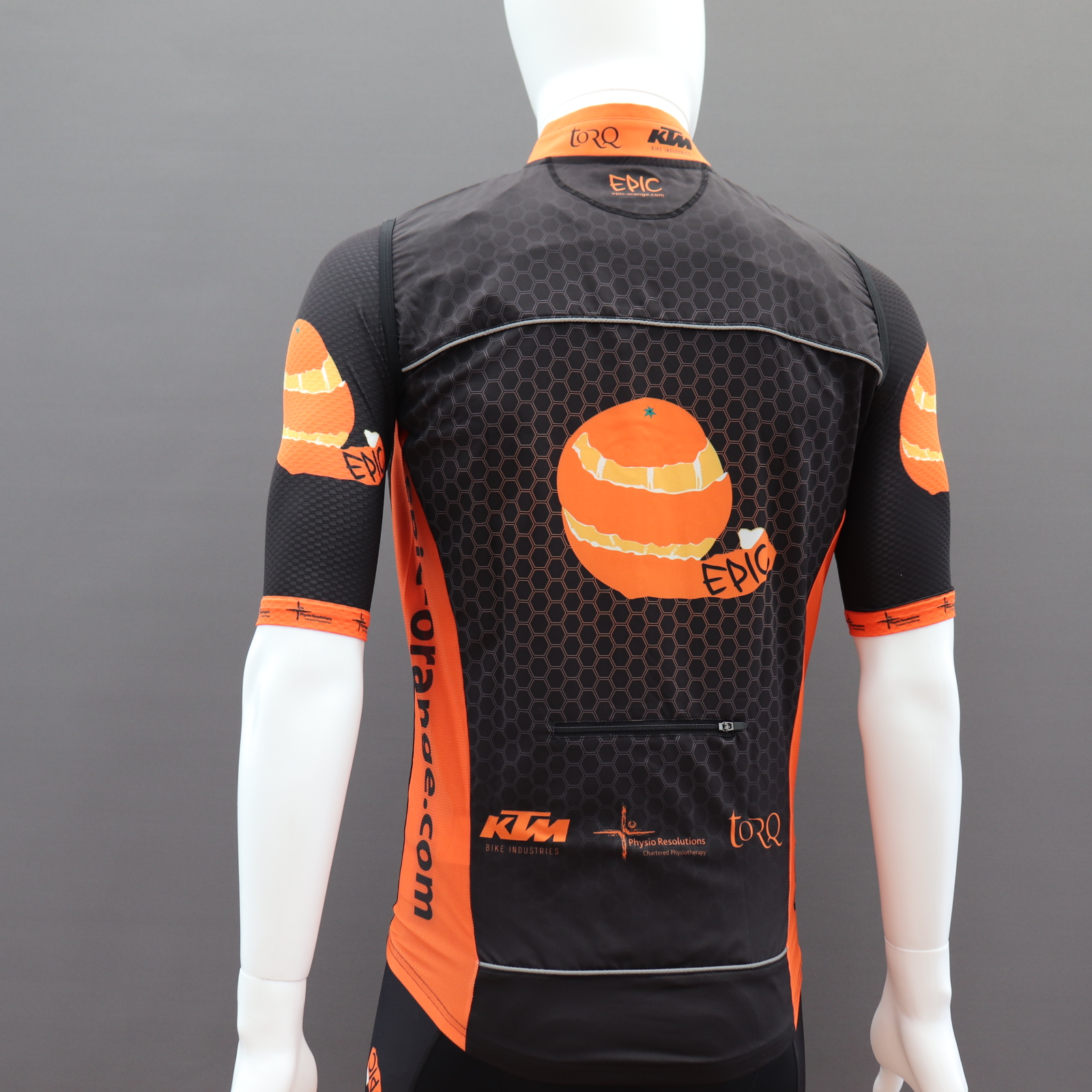 Custom Cycling Gilets - Solid Back