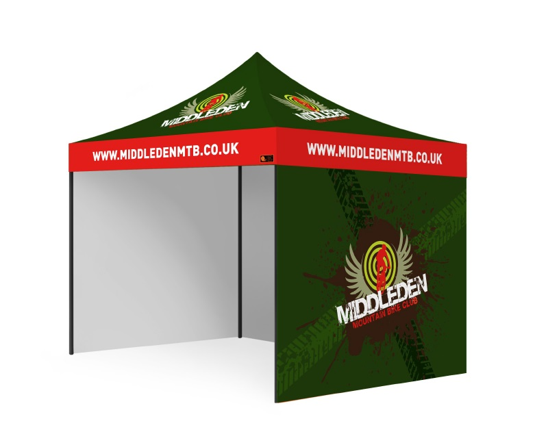 Custom Printed Gazebo Complete Package - Middleton MTB