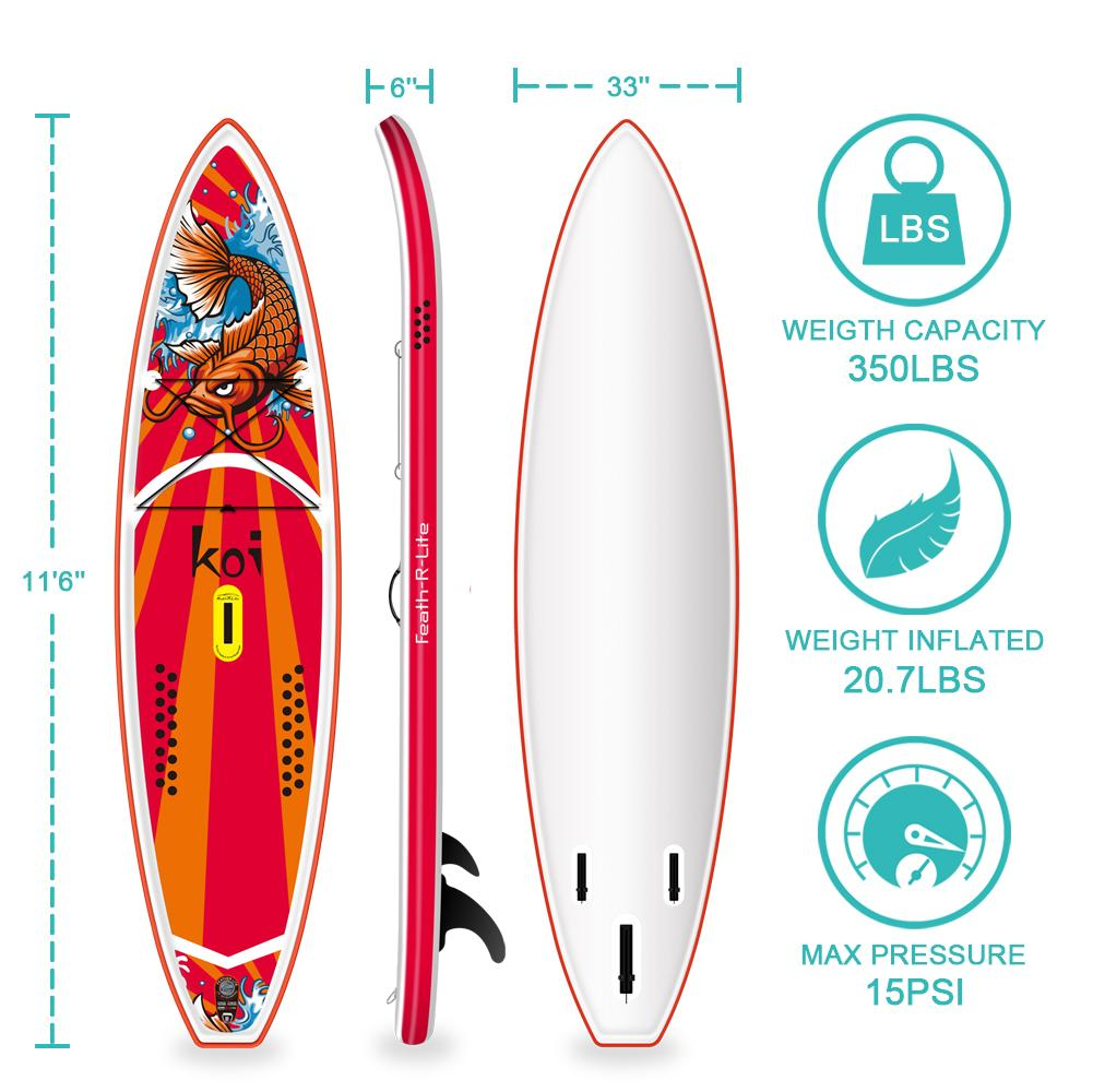 Feath-R-Lite KOI SUP Board Stand up Paddle Board