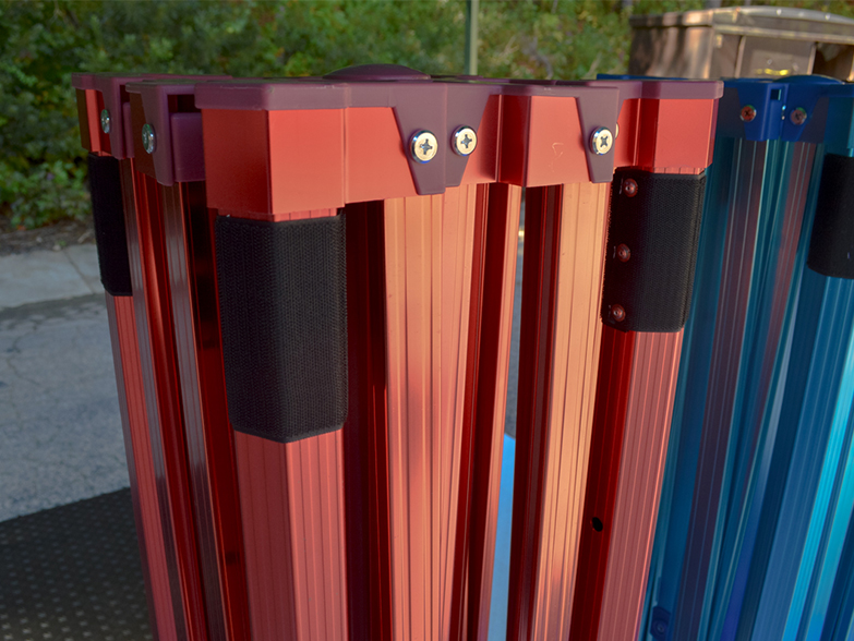 Pro 50 Gazebo Frame Anodised Red