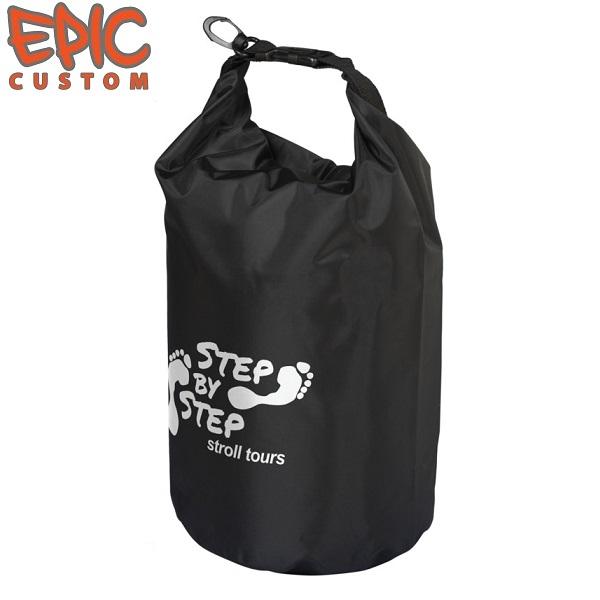 Custom Printed Dry Bags 10 litre BLACK