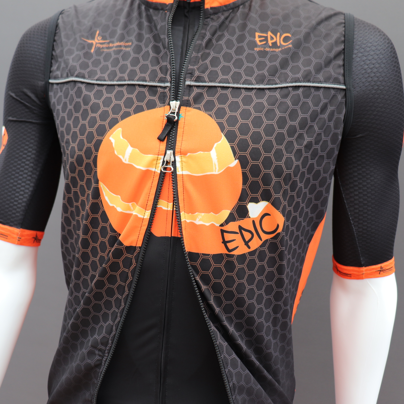 Custom Cycle Gilets - Double Opening Zip