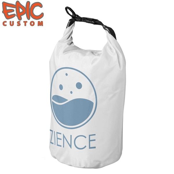 Custom Printed Dry Bags 10 litre WHITE