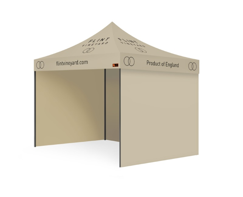 Intermediate Package Custom Printed Gazebo - Flint Vineyard