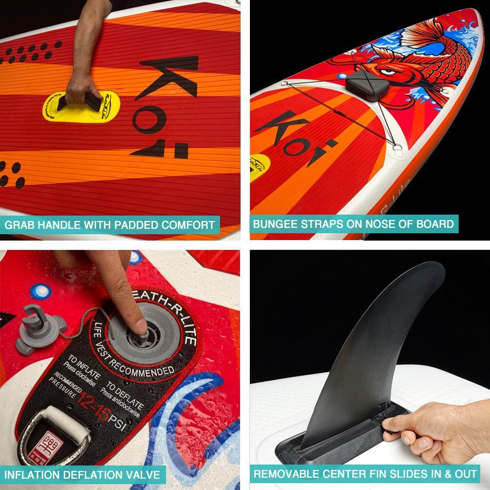 Feath-R-Lite KOI Inflatable Stand up Paddle Board