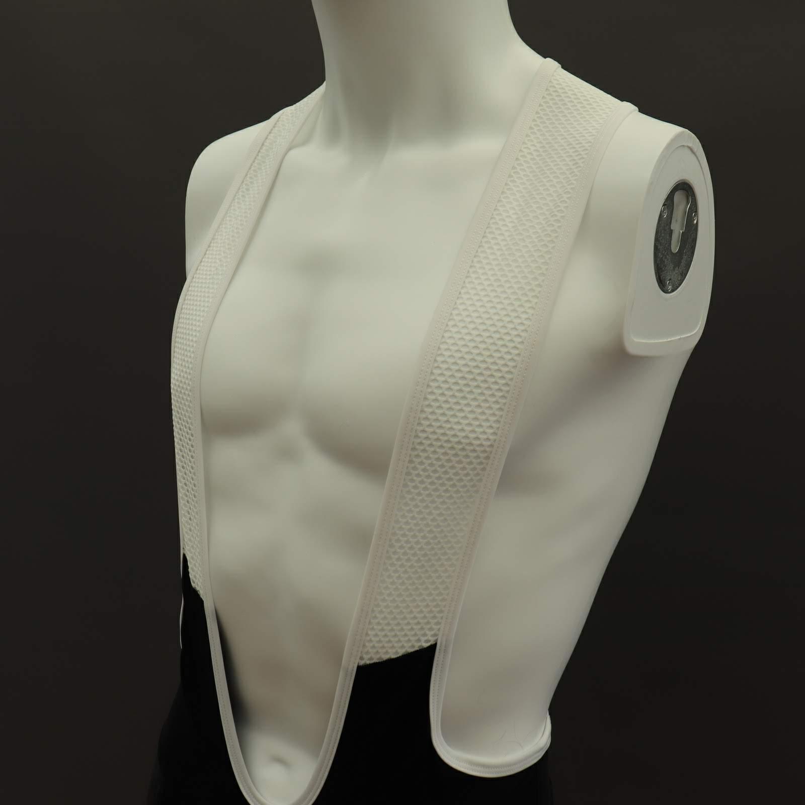 Pro Cycle Shorts - White Comfort Bib
