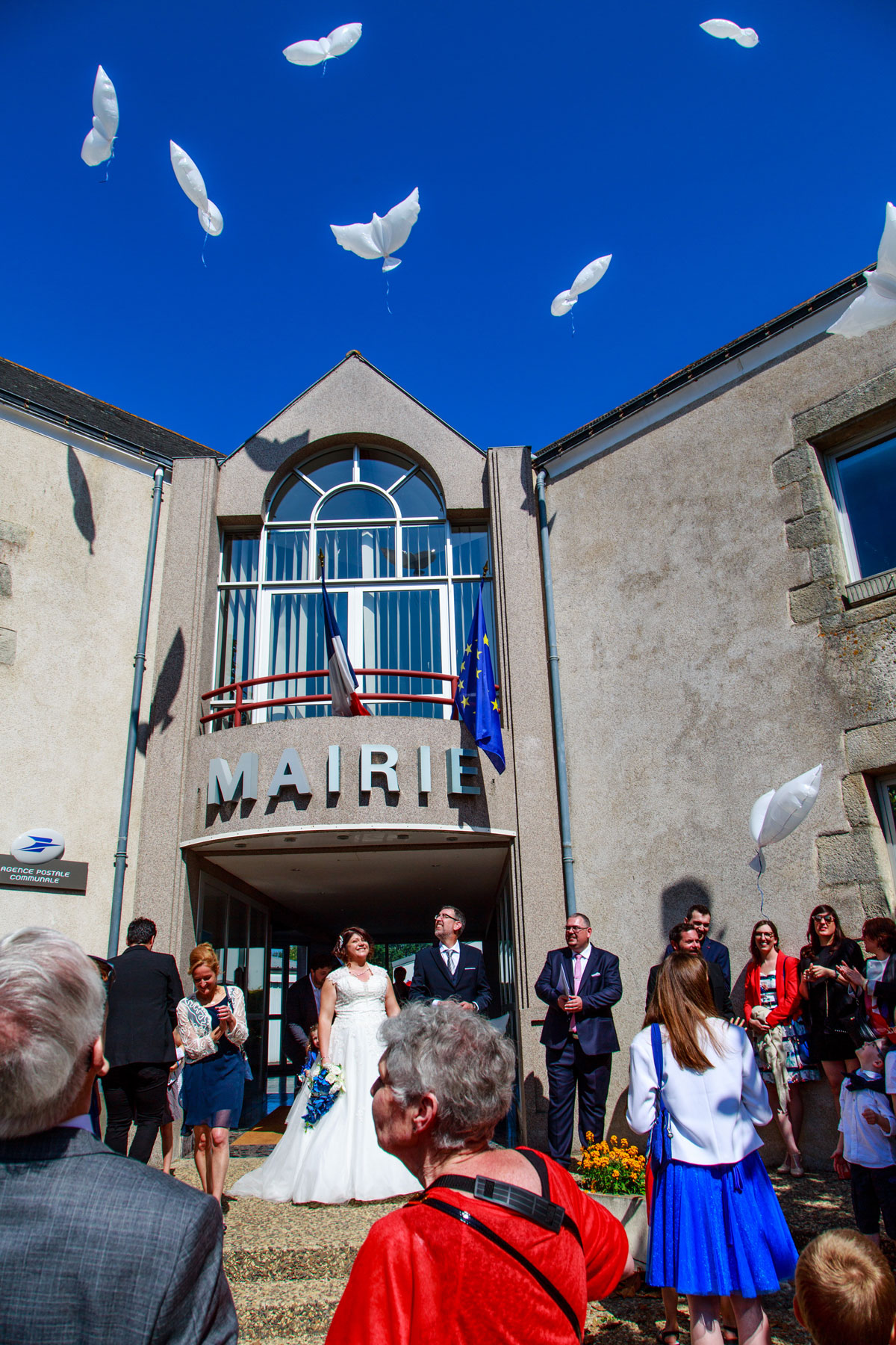 photographie de mariages mairie de mesquer