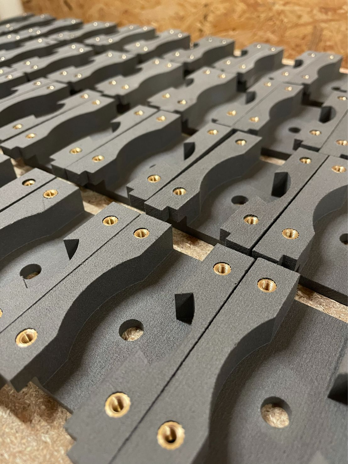 Functional parts in series 3D printed with MJF-PA12 powder
